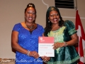 photo credit-Katrice Bent, Carol Campbell winner of Community Builder Award, presented by Sarah Onyango