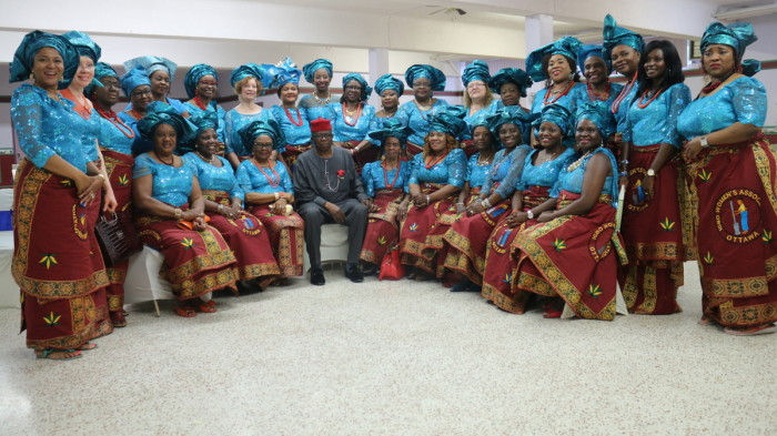 Igbo Women's Association with His Excellency Chief Ojo Maduekwe