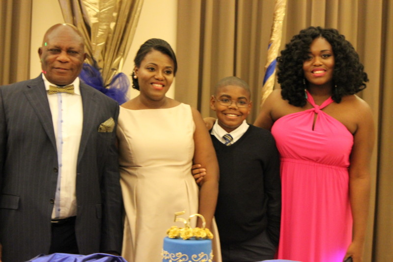 The Ejiofor family: Greg, Nneka, Greg (Jnr.) and Annettee
