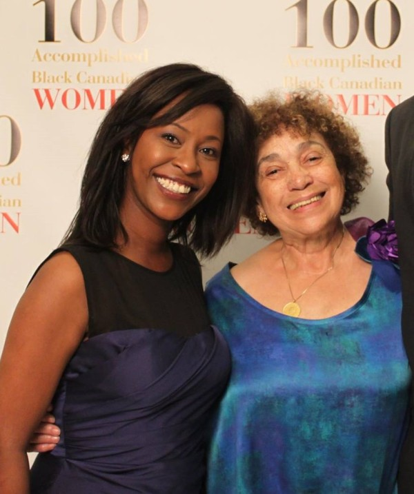 Denise Siele with June Girvan at the book launch in Toronto Photo credit: Kathy Grant
