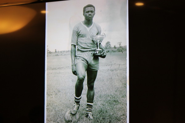 Captain of soccer cup-winning team, St. Patrick's College, Emene, 1964