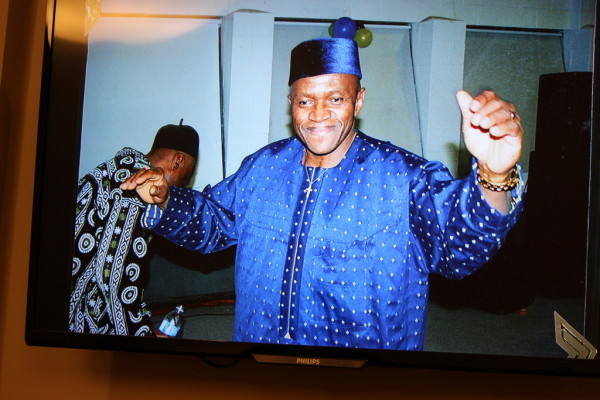 A happy Fidelis at Igbo Xmas party