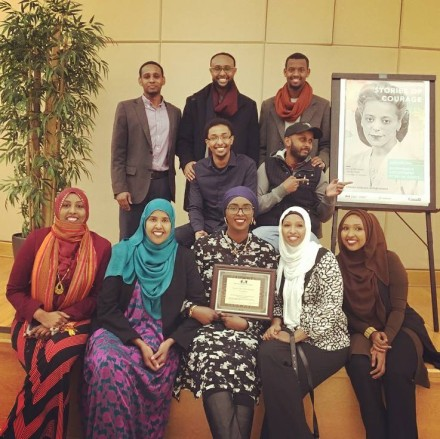 Justice for Abdirahman Coalition members at the 2017 Black History Month launch Photo credit: Ifrah Hassan