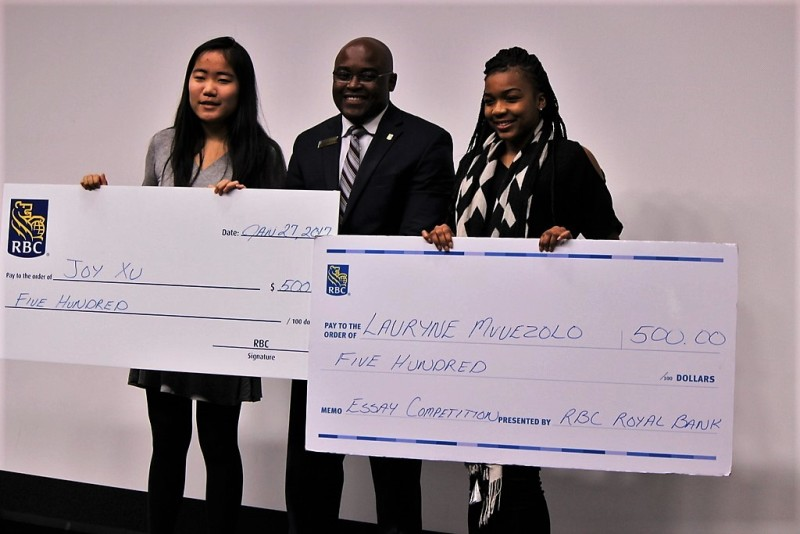 rbc black history month essay competition winning entries black  rbc black history month essay contest winners joy xu left and lauryne muezelo