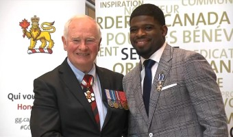 PK Subban with GovernorGeneral
