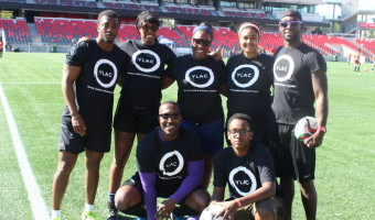 Young Leaders' Advisory Council team led by Eldon Holder Jr. far right