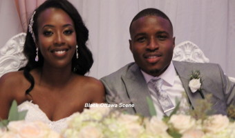 Happy newly weds Erica and Tayo