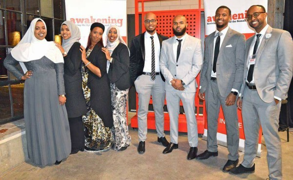 Somali Youth leaders pose for a group pic