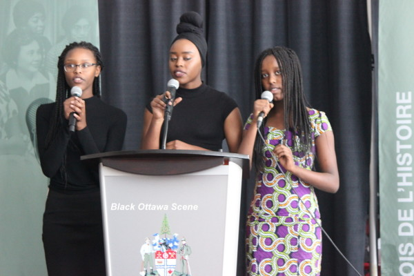 African-American anthem is sung by MeganAlexa & Chelsea Sikubwabo, with Lygie Shimwa