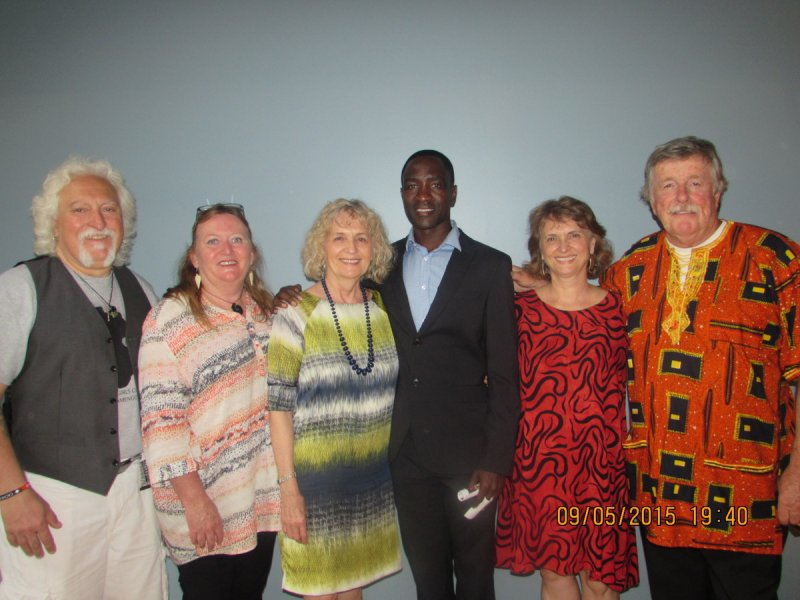 Conference organiser Jimmy Sebulime (3rd right) with some of the guests